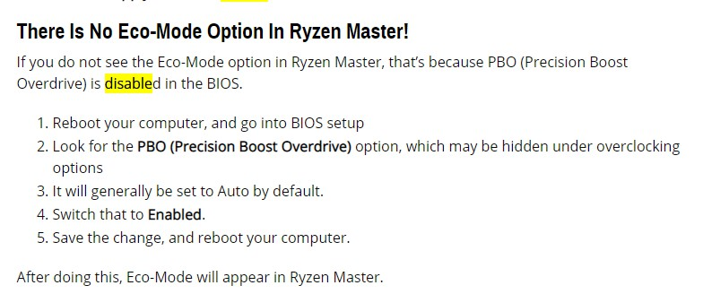 《关于AMD CPU 节能模式 Ryzen Master ECO的排坑指南,解决找不到 节能模式 ECO选项等等问题》